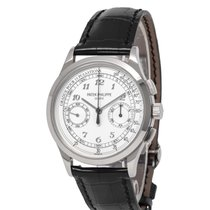 Patek Philippe Chronograph pre-owned 39mm White Chronograph Fold clasp