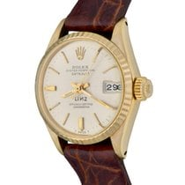 Rolex Oyster Perpetual Lady Date Yellow gold 25mm Silver No numerals United States of America, Texas, Dallas
