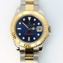 Rolex Yacht-Master Gold/Steel 35mm Blue No numerals