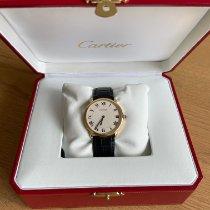 Cartier Ronde Louis Cartier Gelbgold 34mm Silber Römisch