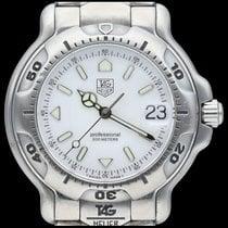 TAG Heuer 6000 Acero 36mm Blanco Sin cifras