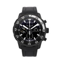 IWC Automatic Black No numerals 44mm pre-owned Aquatimer Chronograph