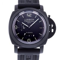 Panerai Luminor 1950 10 Days GMT pre-owned 44mm Black Date Rubber