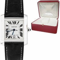 Cartier Tank Française pre-owned 38mm Date Buckle