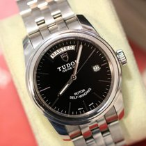 Tudor Glamour Date-Day Сталь 39mm Черный Без цифр