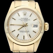 Rolex Oyster Perpetual Lady Date Geelgoud 26mm Champagne Geen cijfers