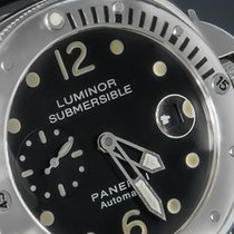 Panerai Luminor Submersible Staal 44mm Zwart Arabisch Nederland, 'S-Hertogenbosch