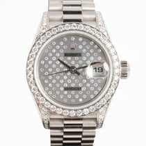 Rolex Lady-Datejust pre-owned 26mm White Date White gold