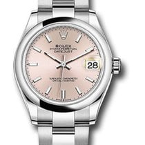 Rolex Lady-Datejust Steel 31mm Pink Roman numerals United States of America, New York, New York