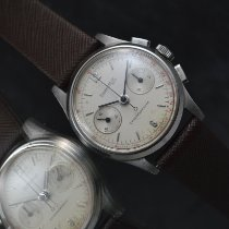 Eberhard & Co. Contograf Steel 32mm White Arabic numerals