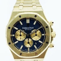 Audemars Piguet Royal Oak Chronograph Or jaune 41mm Bleu Sans chiffres France, Paris