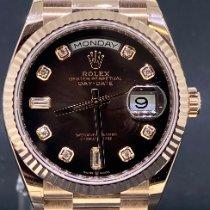 Rolex Day-Date 36 nieuw 2020 Automatisch Horloge met originele doos en originele papieren 128235