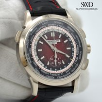 Patek Philippe World Time Chronograph White gold 39.5mm Red