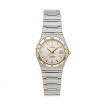 Omega Constellation pre-owned 27.5mm Silver Date Fold clasp