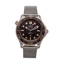 Omega Titanium Automatic Brown No numerals 42mm pre-owned Seamaster Diver 300 M