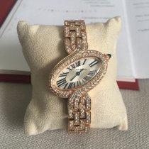 Cartier Délices de Cartier Roségold 30,78mm Schwarz Römisch