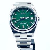 Rolex Oyster Perpetual 36 Otel 36mm Verde Fara cifre