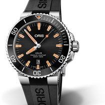 Oris Steel Automatic Black No numerals new Aquis Date