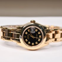 Rolex Lady-Datejust Pearlmaster Yellow gold 29mm No numerals