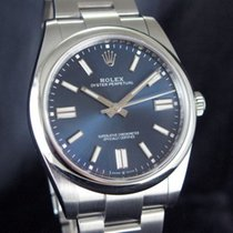 Rolex Oyster Perpetual Ocel 41mm Modrá Bez čísel