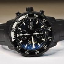 IWC Aquatimer Chronograph Steel 44mm Black No numerals