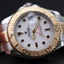 Rolex Yacht-Master pre-owned 35mm White Date Gold/Steel