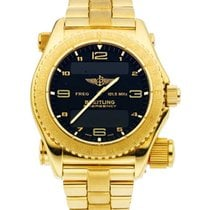 Breitling Emergency pre-owned 43mm Black GMT Yellow gold