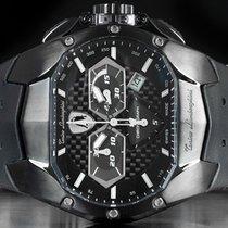 Tonino Lamborghini новые Кварцевые PVD/DLS напыление 42mm Сталь Сапфировое стекло