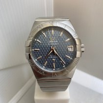 Omega Constellation Men Stål 38mm Blå