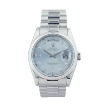 Rolex Day-Date 36 Platinum 36mm Blue United States of America, Georgia, ATLANTA