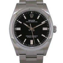 Rolex Oyster Perpetual 36 Acier 36mm Noir Sans chiffres
