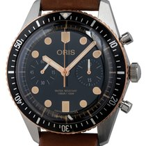 Oris Divers Sixty Five new Automatic Chronograph Watch with original box and original papers 01-771-7744-4354-07 5 21 45