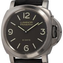 Panerai Luminor Base 8 Days usados 44mm Marrón Día de la semana Caucho