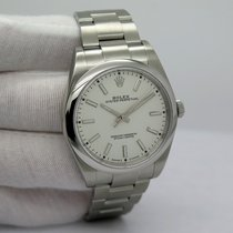 Rolex Oyster Perpetual 39 pre-owned 39mm White Steel