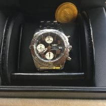 Breitling usado Automático 39mm Preto Vidro de safira 10 ATM