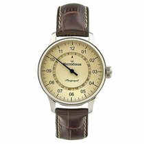 Meistersinger Perigraph Steel 38mm Champagne