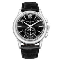 Patek Philippe Annual Calendar Chronograph Platinum 42mm Black United States of America, Connecticut, Greenwich