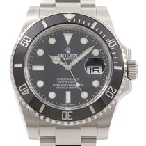Rolex Automatic Black 40mm pre-owned Submariner Date