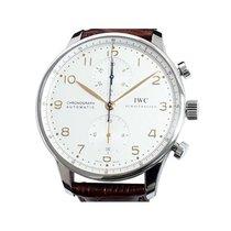 IWC Portuguese Chronograph occasion 41mm Argent Chronographe Cuir