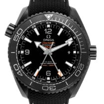 Omega Ceramic Automatic Black Arabic numerals 45.5mm pre-owned Seamaster Planet Ocean