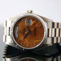 Rolex Day-Date 36 Or blanc 36mm Brun Sans chiffres