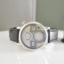 A. Lange & Söhne Platinum Manual winding Silver 44.2mm pre-owned Zeitwerk