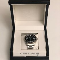 Certina DS Action Steel 43mm Black No numerals