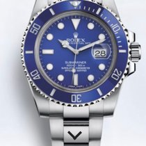 Rolex Submariner Date White gold 40mm Blue No numerals United States of America, New York, Brooklyn