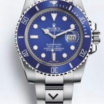 Rolex Submariner Date Белое золото 40mm Синий Без цифр