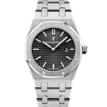 Audemars Piguet Royal Oak Lady Stål 33mm Sort Ingen tal