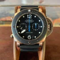 Panerai Luminor Submersible 1950 3 Days Automatic Titane 47mm Noir Arabes France, Cannes