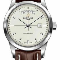 Breitling Transocean Day & Date Steel 43mm Silver United States of America, Florida, Sarasota