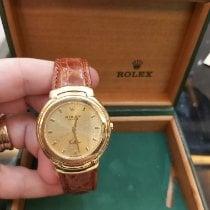 Rolex Cellini Желтое золото 37mm Цвета шампань Римские