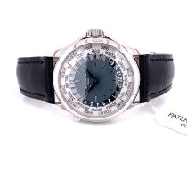 Patek Philippe World Time Platinum 37mm Blue